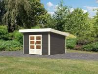 Karibu Woodfeeling Gartenhaus Northeim 2 terragrau 38 mm