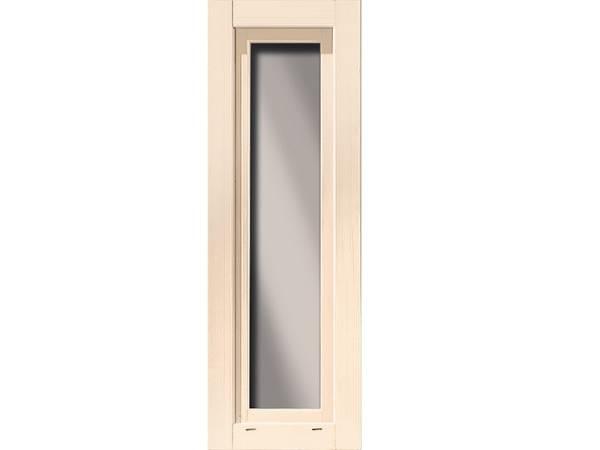 Karibu längliches Fenster elfenbeinweiß 60 x 170 cm für 38 mm