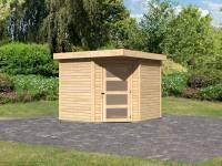 Karibu Woodfeeling Gartenhaus Schwandorf 5 natur 19 mm