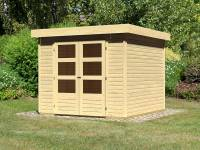 Karibu Woodfeeling Gartenhaus Askola 3,5 natur 19 mm