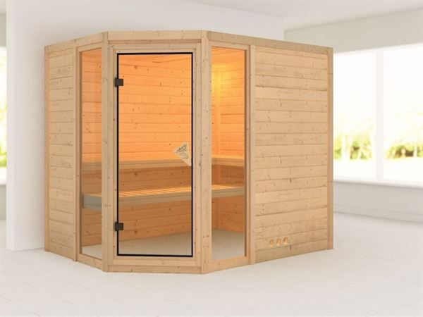 Sinai 3 - Karibu Sauna ohne Ofen - ohne Dachkranz -