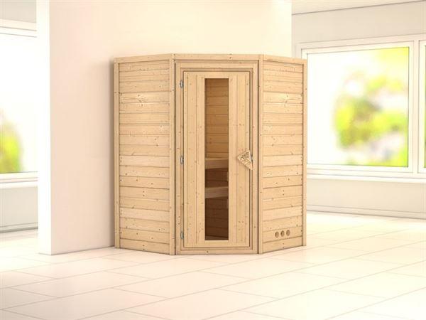 Karibu Sauna Franka 38 mm ohne Dachkranz- ohne Ofen- energiesparende Tür