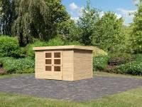 Karibu Woodfeeling Gartenhaus Askola 5 natur 19 mm