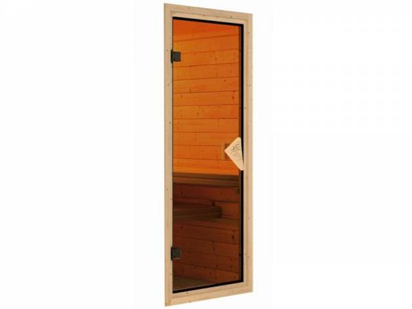 Karibu Saunatür Classic bronziert für 38 / 40 mm Wandstärke