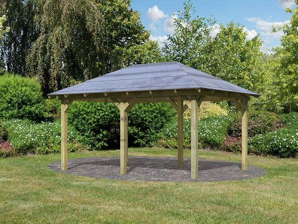 Karibu 4-Eck Pavillon Eco Perida