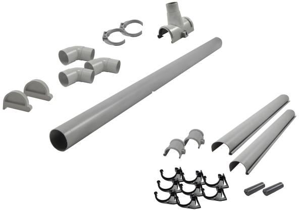 Karibu graue PVC-Dachrinne für Flachdach bis 240 cm