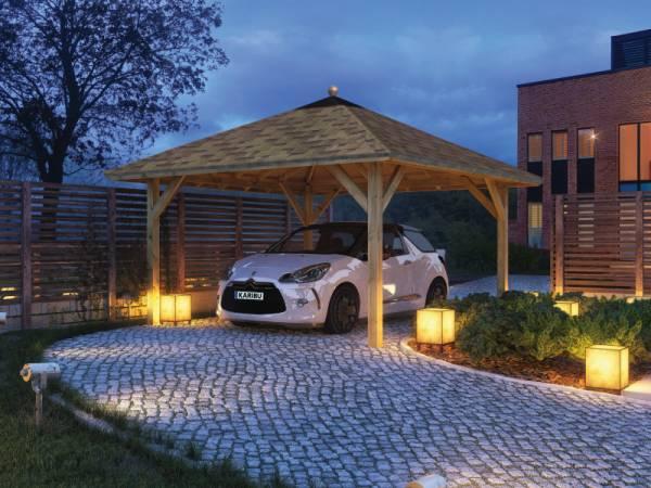 Karibu 4-Eck Pavillon Classic Holm 1 kdi