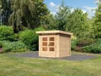 Karibu Woodfeeling Gartenhaus Kandern 1 natur 28 mm