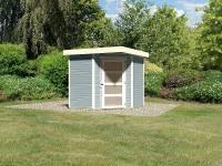 Karibu Woodfeeling Gartenhaus Schwandorf 3 seidengrau 19 mm