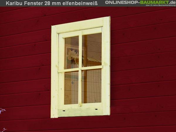 Karibu Fenster für 28 mm weiß Dreh- / Kippfenster