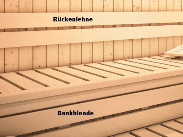 Karibu Sauna Rückenlehnen und Bankblenden Set 3 Premium